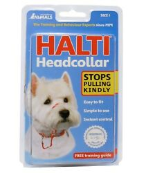 HALTI The Company Of Animals Dog Headcollar Size 1 Black Stops Pulling Kindly