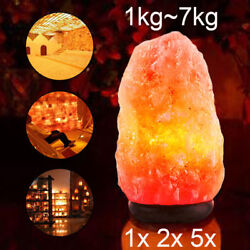1-14 kg Himalayan Salt Lamp Natural Crystal Rock Shape Dimmer Switch Night Light