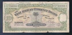 British West Africa 1941 10 Shillings P-7b CRISP Fine!!