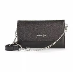 Kendall Kylie Black Glitter Bag crossbody