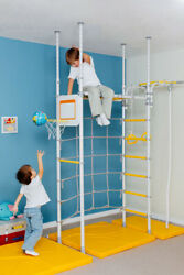Karusel R4 - Kid Indoor Gym - Home Playground Set-Swedish Wall No Holes to Drill