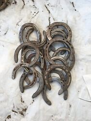 20 Used Steel Horseshoes Straight from Montana Patina Included Free Shipping