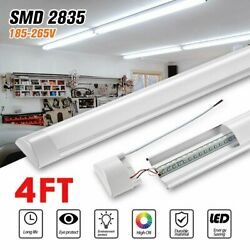 4FT Linear LED Shop Light 44W Flush Mount for Garage Workshop Home