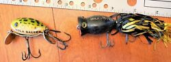 Vintage Arbogast Hula Popper & Hula Dancer Fishing Lure Lot