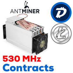 24 hours rental on Bitmain Antminer 530 MHs OC L3++ contract.!  $3.90