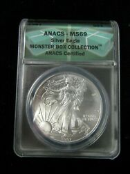 1997 $1 SILVER AMERICAN EAGLE COIN ANACS MS69 MONSTER BOX COLLECTION