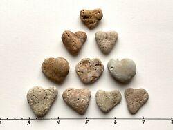 10 Natural Heart Shaped Beach Stones ~1