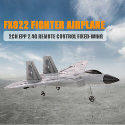 FX822 F 22 Fixed Wing Plane Aircraft RC Raptor Model Airplane Outdoor Toys J1N0 $35.99