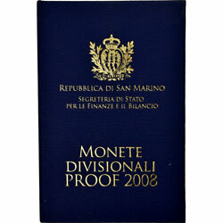 [#735591] San Marino 1 Cent to 2 Euro 2008 Proof MS(65-70) (No Composition)