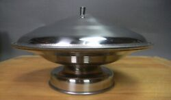 SALE! (2) NOS Stainless Steel Serving Dish Compotes w Lids Restaurant Supply