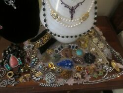 Lot of 60  Beautiful Rhinestone Vintage High End BroochesNecklaces