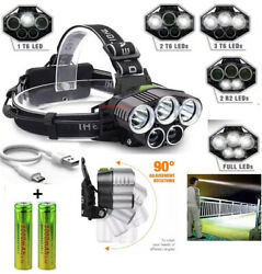 250000LM 5X T6 LED Headlamp Rechargeable Head Light Flashlight Torch Lamp USA $11.69
