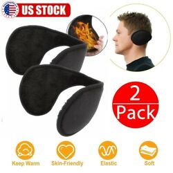 2 Pack Unisex Ear Muffs Winter Ear warmers Fleece Earwarmer Behind the Head Band