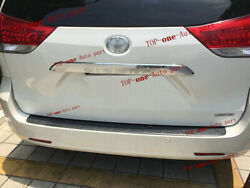 Tail Rear Moulding Trim ABS Chrome Trunk Door cover for TOYOTA SIENNA 2011-2020