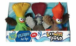 Happy Tails Loonie Pond Friends Dog Squeaker Toys 3-count