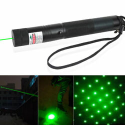 Military Powerful 532nm Green Laser Pointer Pen Visible Beam Light 10Miles $8.99