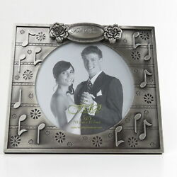 Fetco Home Decor Photo Frame #x27;First Dance#x27; Pewter Finish Wedding 7quot; x 6quot; $15.52