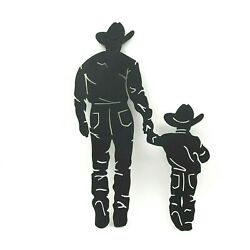 Father Son Cowboys Western Rustic Home Decor Plaque Sign Son#x27;s Father#x27;s Prayer $39.99