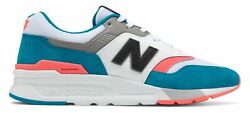 New Balance Men's 997H Shoes Blue with Pink