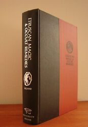 Etruscan Magic ~  by Lealand  RARE OCCULT HARDCOVER VINTAGE 60s  WITCHCRAFT PAN