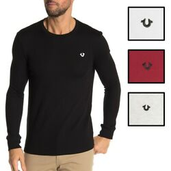 True Religion Men's Thermal Long Sleeve Horseshoe Embroidered Shirt $33.00