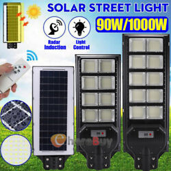 9900000LM Commercial Solar Street Light LED Outdoor IP67 Dusk to Dawn Road Lamp