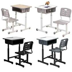 Adjustable School Student Desk and Chair Set Child Study Furniture 4 Color US $79.95