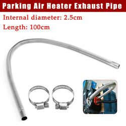 Stainless Steel Exhaust Pipe Parking Air Heater Exhaust Pipe Tank Gas Vent Hose $13.91