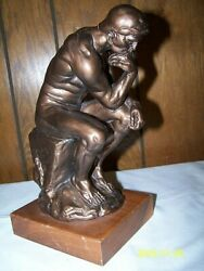 The THINKER Bronze Sculpture by Rodin Replica 10