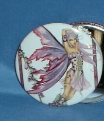 Amy Brown Fairy Faery Large Button Badge Foxglove Fox Gloves Flower Garden New $2.95