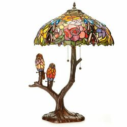 Table Lamp Tiffany Style Glass Stained Shade Pull Chain Home Indoor Decor Accent $439.95