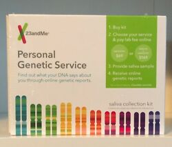 23andMe Personal Genetic Service - Saliva Collection Kit  SEALED EXP: 1020