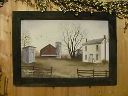 Primitive Rustic country Framed Art Print by Billy Jacobs No Plumbing 14x20 $32.95