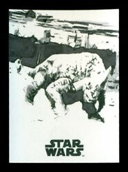 2018 Star Wars Black and White Sketch Card 11