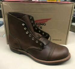 RED WING 8111 IRON RANGER HERITAGE  BOOT MADE IN USA CAP TOE NEW IN BOX