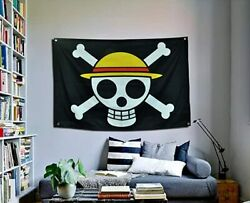 One Piece Luffy#x27;s Straw Hat Pirate Flag 3X5 Ft High Quality Polyester Animation $10.99