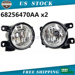 Pair LH amp; RH Fog Driving Light Lamp Fit for 2015 2018 Jeep Renegade $29.73