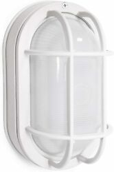 CORAMDEO Outdoor Small Oval LED Bulkhead Light Built in LED Gives 75W of Light $23.99