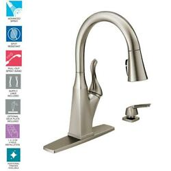 Delta Everly Single-Handle Pull-Down Sprayer Kitchen Faucet with ShieldSpray
