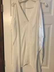NWT Forever 21 White Lace Beach Cover Up Dress Like Size M L $5.49