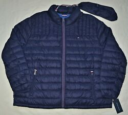 New 4X Tommy Hilfiger Mens packable puffer down jacket coat Navy 4XB 4XL