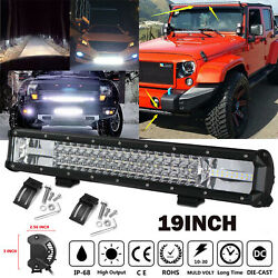 19Inch Car LED CREE Chips Lamp Foglight Work Light Bar for Off-road Jeep SUV $32.39