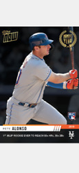 2019 TOPPS NOW MOMENT OF THE YEAR ROOKIE CARD METS PETE ALONSO #MOY-7 50+ HRs