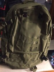 Olive Green Hiking Or Everyday Backpack $11.99