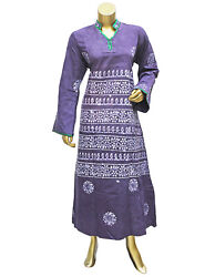 Classy Abaya Collared Caftan Cotton Gown Multi color Printed Maxi for Women#x27;s $10.37