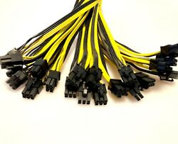 6x 12x or 16x 6 Pin to 8 Pin 62 PCIe Cable for GPU Mining FAST US Shipping $22.97