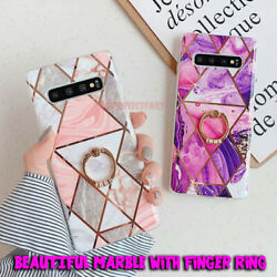 Marble Phone Case Cover For Samsung Galaxy Note 10 S10 Plus S9 S8 Finger Ring US $9.39