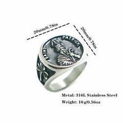 Mens Rings Stainless Steel Catholicism Religious Style Saint St. Patrick Items $9.46