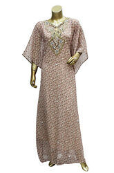 Dubai Style Caftan Multi color Embroidered Chiffon Gown Kaftan Maxi for Women#x27;s $15.35