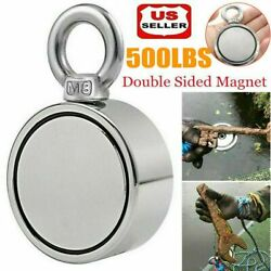 500LBS Pulling Force Round Double Sided Fishing Magnet Super Strong Neodymium US $14.99
